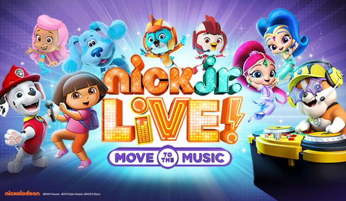 Nick Jr. Live! Move to the Music at Sarofim Hall at The Hobby Center